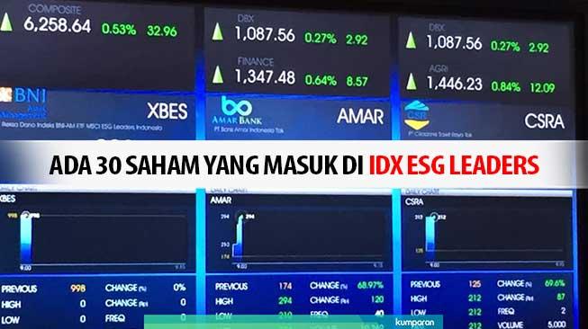 Ada 30 Saham yang Masuk di IDX ESG Leaders